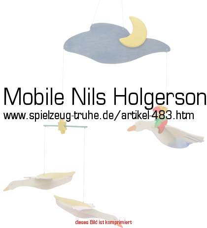 mobile nils holgerson mit wildg nsen. Black Bedroom Furniture Sets. Home Design Ideas