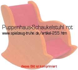 Puppenhausschaukelstuhl aus rot gef rbtem massivem holz for Schaukelstuhl rot